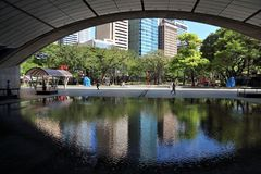 Triangolo di Ayala, Manila immagine stock