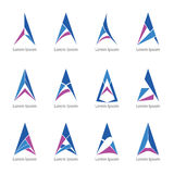 Triangolo a di logo Fotografia Stock
