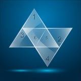 Triangolo di vetro infographic illustrazione vettoriale