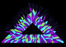 Triangolo disegnato a mano Colourful illustrazione vettoriale
