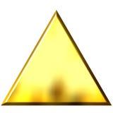 triangolo dorato 3D illustrazione di stock