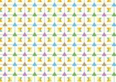Triangolo e linea e modello del trapezio su fondo pastello Fotografia Stock Libera da Diritti
