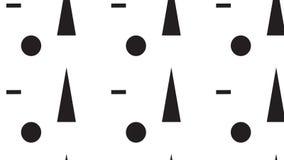 Triangolo e modello di punto monocromatici astratti moderni semplici Immagini Stock