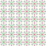 Triangolo e modello rosa della tazza della curva e del cerchio su Backgro pastello Fotografie Stock Libere da Diritti