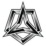 triangolo e vettore dell'illustrazione di clipart di pentagono Immagini Stock