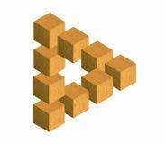 Triangolo impossibile 2 dai cubi Fotografia Stock Libera da Diritti