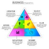 Triangolo infographic creativo per l'affare Fotografia Stock Libera da Diritti
