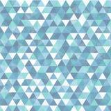 Triangolo nel fondo astratto blu Fotografie Stock Libere da Diritti