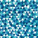 Triangolo nel fondo astratto blu scuro Fotografia Stock