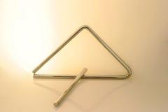 Triangolo - toni dell'oro Fotografia Stock Libera da Diritti