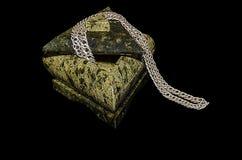 Triangulär ask för smycken Royaltyfria Bilder