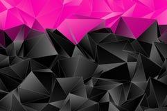 Triangulär 3d, modern bakgrund Royaltyfria Foton