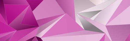 Triangulär 3d, modern bakgrund Royaltyfri Bild