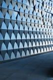 Triangulär formad väggdesign Royaltyfria Foton