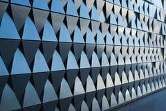 Triangulär formad väggdesign Royaltyfri Foto