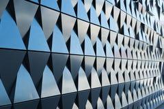 Triangulär formad väggdesigntextur Royaltyfria Foton