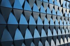 Triangulär formad väggdesigntextur Arkivfoton