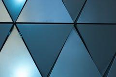Triangulär formad väggdesigntextur Arkivbild