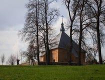 Triangulär kyrka Fotografering för Bildbyråer