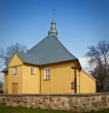 Triangulär kyrka i Litauen Royaltyfria Foton