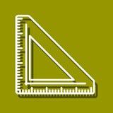 Triangulär linjal Royaltyfri Bild