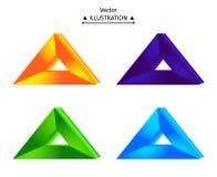 Triangulär logouppsättning Arkivbilder