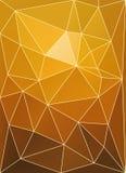 Triangulär patchwork för solnedgång Arkivbild