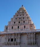 Triangulär rosa byggnad i södra Indien royaltyfri fotografi