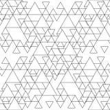 Triangulär sömlös vektormodell Abstrakta svarta trianglar på vit bakgrund Royaltyfri Bild