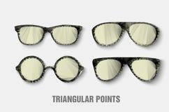 Triangulär solglasögon Arkivbilder