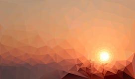 Triangulär solnedgång Arkivfoto