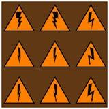 Triangulär symbolsblixt Royaltyfria Foton