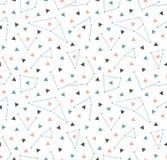 Triangulär utrymmebakgrund för vektor med konstellationer Sömlös modell för Hipster med utrymme Arkivfoton