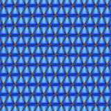 Triangulära abstrakta bakgrundsblått Royaltyfri Bild