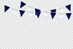 Triangulära flaggafärgidéer planlägger illustrationen på trans. Royaltyfri Foto