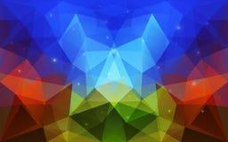 Triangulärt abstrakt färgrikt texturerar Royaltyfri Foto