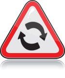Triangulaire rouge l'autre signal d'avertissement Images libres de droits
