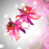 Triangular 3D Background Stock Image
