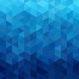 Triangular abstract background blue ocean. Design element illustration stock illustration