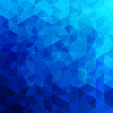 Triangular abstract background blue ocean. Design element vector illustration Stock Images
