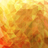 Triangular abstract background gold. Design element vector illustration Royalty Free Stock Photo