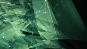 Triangular abstract background, abstract technology innovation backdrop concept, dots lines and triangles backgrounds conception. Machine learning signal process vector illustration