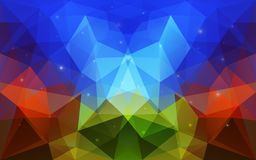 Triangular Abstract Colorful Texture Royalty Free Stock Photo
