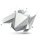 Triangular abstract grayscale 3D shape, vector digital eps8 latt. Ice object Royalty Free Stock Photography