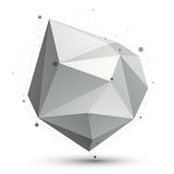 Triangular abstract grayscale 3D shape, vector digital eps8 latt. Ice object Stock Images