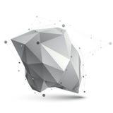 Triangular abstract grayscale 3D shape, vector digital eps8 latt Royalty Free Stock Photography