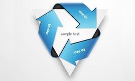 Triangular arrow. Three arrows wind around triangle Royalty Free Stock Images