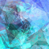 Triangular background. Abstract triangular background design in blue colors Stock Image