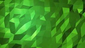 Triangular background. Abstract green low poly geometry triangle mosaic background animation stock video footage