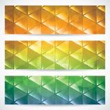 Triangular banners Stock Photo